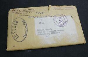 1960 P&D Uncirculated mint Set 10 Coins in Original mint envelope 6 Coins Silver