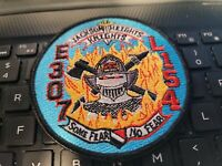 VINTAGE FDNY  PATCH--106 TILLER TRUCK   SIZE  31/2 X 4  INCHES--- SEE STORE