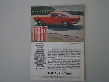 advertising Pubblicità 1962 FIAT 2300 S