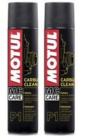 Spray Pulizia Pulitore per Carburatori Motul P1 Carbu Clean 2 x 400 ml