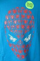 Spiderman Boys T-Shirt New Marvel Blue Glow in the Dark super hero
