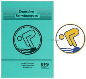 Schwimmabzeichen Jugendschwimmer Gold Abzeichen Rund+Pass 1x 5x 10x 15x 20x 25x