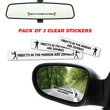 Objects In Mirror Are Zombies Sticker Decal Car Funny Hunting #5335ST