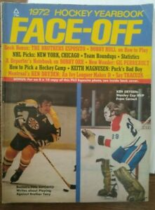 HOCKEY FACE-OFF  Yearbook 1972 Phil Esposito Ken Dryden Goalie Mask 70-71 STATS