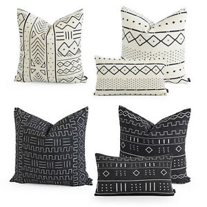 Hofdeco Premium Cushion Case Pillow Cover HEAVY WEIGHT BOHO African Mud Cloth