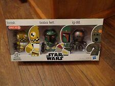 Star Wars 2010 Mini Mighty Muggs Vinyl Figure 3pack 3 Bossk Boba Fett Ig88