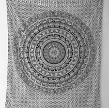 Elephant Mandala Wall Hanging Indian Dorm Decor Bed Cover Single Size Tapestry