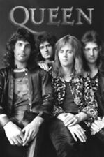 Queen Black & White Poster Brian May Freddie Mercury New 24x36 Free Guitar Pick