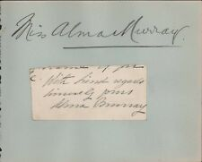 More details for alma murray (1854–1945)  english actress signed  b8.751