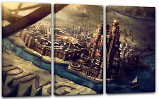 120x80cm Lein-Wand-Bild: Game of Thrones King's Landing auf Karte Globus