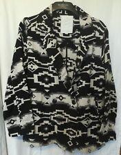 Element Eden Aztec Jacket. Black,white. Oversized.Lagenlook.Pockets. L. 16+.