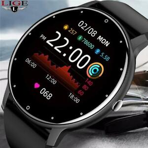 Lige New 2021 Full Touch Female Digital Watch Waterproof Sports Suitable For And