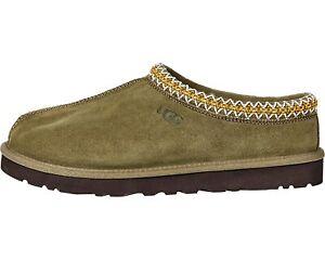 UGG Men's TASMAN Casual Comfort Sheepskin & Suede Clog Slippers BURNT OLIVE 5950