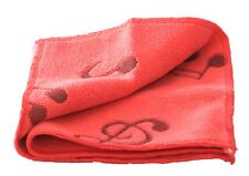 Hot pink musical symbols microfibre face washer towel overlocked edges free post