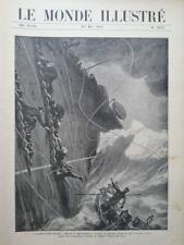 LE MONDE ILLUSTRE 1905 N 2512  LA COURSE DES CANOTS AUTOMOBILE ALGER-TOULON