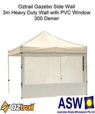 Set of 3 - 3m Gazebo Side Wall With PVC Window OZtrail Heavy Duty White Border