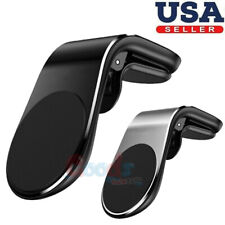 Car Phone Holder Magnetic Air Vent Mount Universal Cellphone Black / Silver