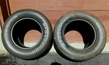 VINAGE 1970s Hot Rod 2 Car Tires BF GOODRICH RADIAL T/A P295/50R 15 M+S 105S