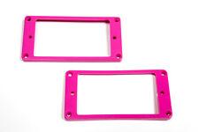 Marcos pastillas humbucker curvados rosas - Pink Curved Mounting Rings Set