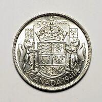 Canada 1941 Silver 50 Cents Half Dollar Coin