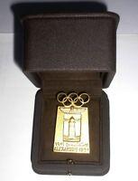 1972 Olympic Games Munich Original Souvenir Bottle OPENER 24k PLATED Gold NICE!!
