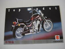 advertising Pubblicità 1987 MOTO SUZUKI VS 750 GL