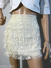 REVIEW size 6 tiered / layered lace patterned SKIRT - excellent condition