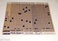 Microfich Catalogo parti di ricambio FIAT PANDA-PANDA 4 x 4 STAND 11/1995