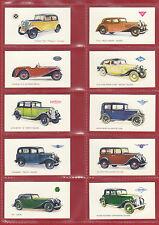 CARS  -  GALLAHER  LTD.  -  RARE  SET  OF  24  MOTOR  CARS  CARDS  -  1934