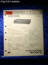 Sony Service Manual STR AV200E Receiver (#1902)