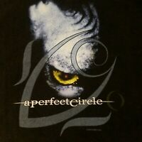 A Perfect Circle Mens Large Vintage Rock T Shirt 2000 Black Short Sleeve