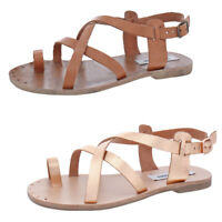 Steve Madden Women's Aatheena Leather Strappy Slingback Flat Sandals Shoes