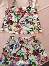 Minkpink Size Small Ladies Summer Flared Shorts And Top Set