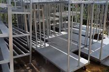 Mobile Aluminum Cooler or Backroom Storage Shelving Transport Carts