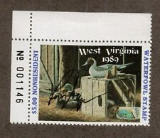 WV3A - West Virginia State Duck Stamp. MNH. OG. PNS.Non Res.A/S. #02 WV3APNSTLAS