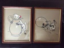 Pair of vintage Cecil Aldin Prints, ready to hang.