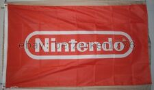 Nintendo 3'x5' Red Flag Banner Video Game Mario Bros Zelda Pokemon - U.S. seller