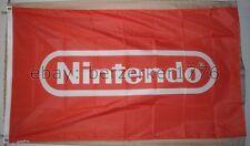 Nintendo 3'x5' Red Flag Banner Video Game Mario Bros Zelda Pokemon - U.S. seller