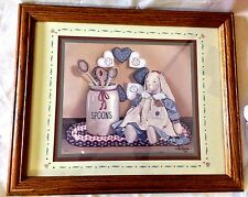 PR VINTAGE HOMCO HOME INTERIOR COUNTRY HEARTS WALL PICTURES #9837 PINK SHABBY