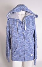 2016 NWT WOMENS VOLCOM LIVED IN SPACE DYE ZIP HOODIE $55 S navy full zip logo