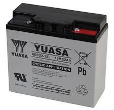 2(Paire)x 12V 22AH YUASA CÂBLE Batterie Rechargeable Veille & Cyclique usage