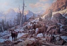 Harry Curieux Adamson - Evening Solitude - Big Horns Print, S/N
