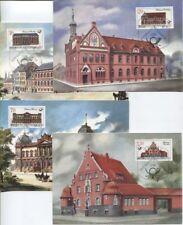 DDR 3067-3070 amtliche Maximumkarten 1-4/87 Historische Postgebäude top (B07878)