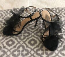 NEW Ann Taylor Black High Heels 6M Strappy Sandal