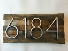 Custom Rustic Address Plaque - House Numbers, Address Sign, Reclaimed Wood Decor
