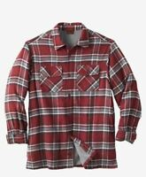 NWT MEN PLUS SİZE Fleece-Lined Flannel Shirt Jacket  Cotton MSRP $84.99 2X-5X