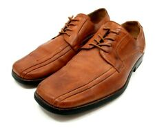 Stacy Adams Mens US 10.5 Cognac Brown Leather Square Toe Dress Business Shoe