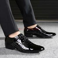Fashion Mens Oxfords patent  leather Wedding Business Dress Formal Shoes
