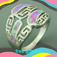 NEW SIZE 8 1/4 RING + BOX! FLASHING OPAL SILVER HAUNTED WITCH. FREE USA S&H 8.25