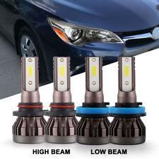 4Pcs Combo Led Headlight Bulb 9005 High Beam H11 Low Beam for Toyota Camry 07-18